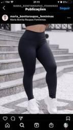 Calça legging flanelada preta ou azul marinho