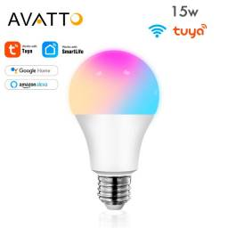 Lâmpada inteligente RGB Avatto 15w Alexa Google Home