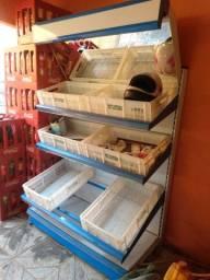 Expositor de verduras novo 1100 reais