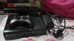 Xbox 360 + kinect + 5 jogos originais