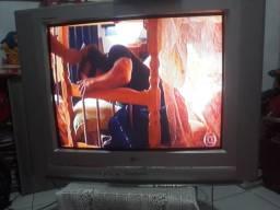 Televisao de tubo Lg 29polegadas com receptor positivo com várias entradas pra tv