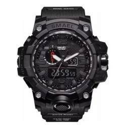 Relógio Esportivo Smael 1545 Shock Militar Digital + Brinde