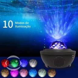 Projetor LED Galáxia com Som Bluetooth e Controle Remoto