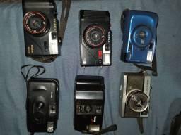 06 Cameras fotográfica e 01 filmadora analógicas
