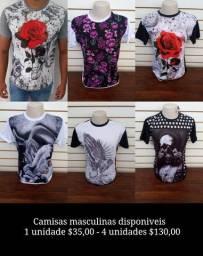 Camisas masculinas disponiveis VALORES NAS FOTOS