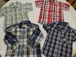 Camisas infantil Xadrez Tamanho 2 a 3