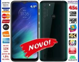 "Motorola One Fusion 128GB Octacore, 4GB Ram, Tela 6.5"", 4Cam 48MP, Novo, Cx, NF, Gar, Trc"