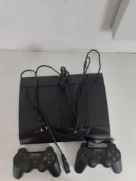 CONSOLE PS3 COM 2 CONTROLES COM CARREGADOR +23 JOGOS