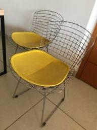 2 Cadeiras Bertoia Alumínio