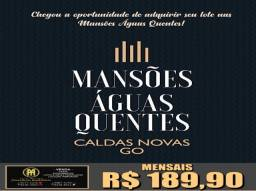Lotes nas mansões 189,00 reais por mês