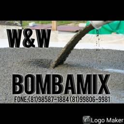 Concreto usinado e bomba!