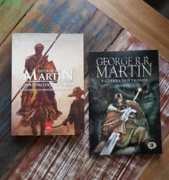 """Livros """"Guerra dos Tronos"""", """"O Cavaleiro dos Sete Reinos"""", entre outros (ver descrição!)"""