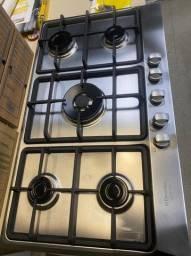 vídeo Cooktop 5 bocas Electrolux Home Pro cor Inox a Gás (GF90X) - Bivolt