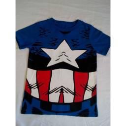 Camiseta Heróis (4 anos) - 10 reais cada
