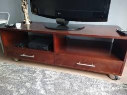Rack de Tv de madeira, super conservado