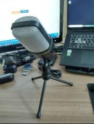 Microfone Condensador - Para professores, alunos advogados juiz - Microfone Com Tripé