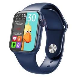 Smartwatch Iwo Hw12 Azul Original Foto Tela E Faz Ligações