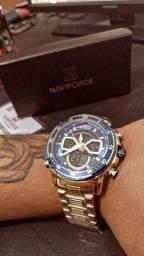 Relógio Naviforce Masculino Blacklight
