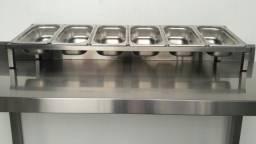 Condimentadora Cuba Gastronômica, modelo bancada - Fabricante Ideal Inox