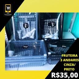 FRUTEIRA 3 ANDARES CINZA E PRETO