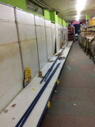 18 metros de prateleira para cereais de mercadinho