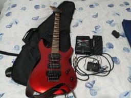 Guitarra groovin+pedal+capa