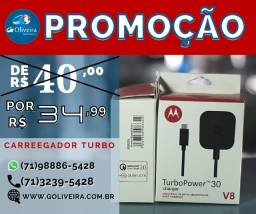 Carregador Motorola Turbo Moto G4 G5 S6 Plus Samsung