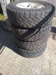 Jogo roda jimny e pneus 215 75 15