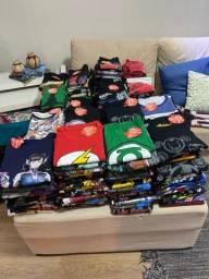 Lote de Camisas PITICAS originais c/ Bonecos , Canecas, Chinelos , etc ...