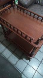 Carrinho bar antigo de madeira