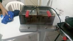 Fritadeira de alta pressão a gás industrial.