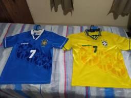 2 Camisas Seleção Brasileira 1994 - M - Original UMBRO