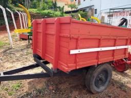 Carreta madeira 3 toneladas para trator