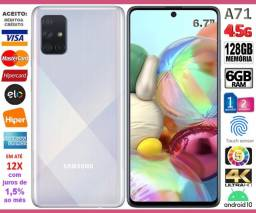"""Galaxy A71 Octa Core, 128GB, 6GB Ram, Tela 6.7"""", 4Câm 64MP, Novo, Cx, NF, Gar, Troco"""