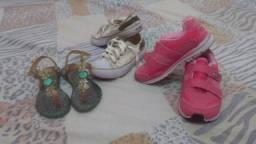 Lote de sapatos 26