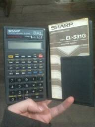 Calculadora Científica EL-531G antiga da Sharp + Capa + Manual (Negociável)