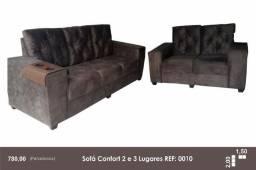 Sofá Confort Barato 2 e 3 Lugares Barato - Garantia e Brinde