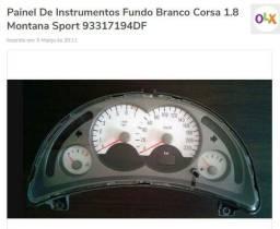 Painel De Instrumentos Fundo Branco Corsa Montana codigo 93317194DF