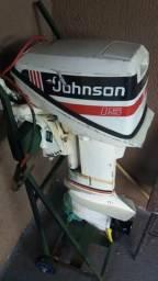 Motor de popa 15hp Johnson, partida elétrica, revisado, 1991, r$2.500,00 - 1991