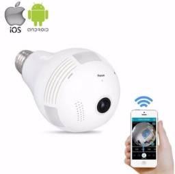 Lâmpada Câmera Ip Wifi Panorâmica 360º - Monitorada via celular