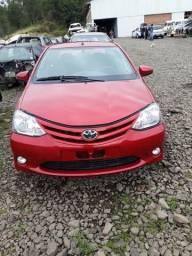 Motor parcial Toyota Etios 96cvs flex 2016 a base de troca