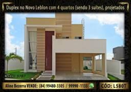 Duplex no Novo Leblon já com móveis projetados, com 4 quartos sendo 3 suítes
