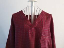 Título do anúncio: Camisa de pijama masculina, manga curta, decote em V, tamanho GG