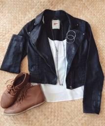 Jaqueta azul encerada