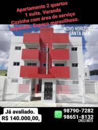 Apto 2 qtos c/ varanda - Novo Horizonte
