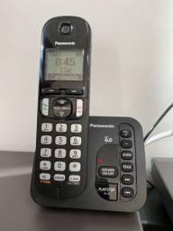 Telefone sem fio com secretária eletrônica e viva voz (novo está mais de 400,00)