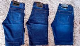 Bermudas jeans e camisas top