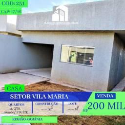 Casa De 2 Quartos - Vila Maria - Aparecida de Goiânia