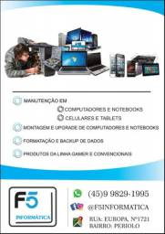 Computadores, celulares, Notebooks e tablets
