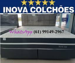 Conjunto Cama Box + Colchão Super King Trump Star WhatsApp * Falar